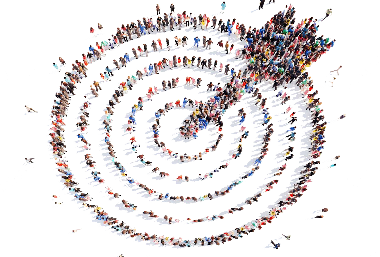 large-group-of-people-in-the-shape-of-a-target-with-an-arrow-aim-isolated-white-background 123